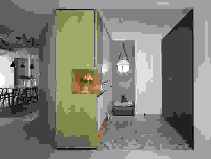 微光 現代風玄關、走廊與階梯 根據 Fertility Design 豐聚空間設計 現代風