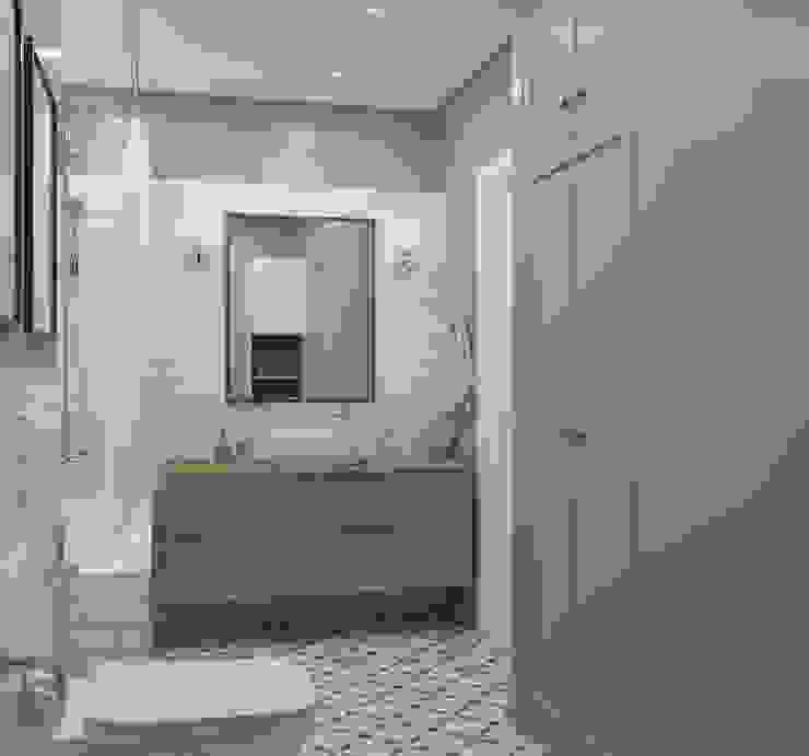 """ЖК """"Татьянин Парк"""", двухкомнатная квартира для молодой семьи Ванная комната в скандинавском стиле от OM DESIGN Скандинавский"""