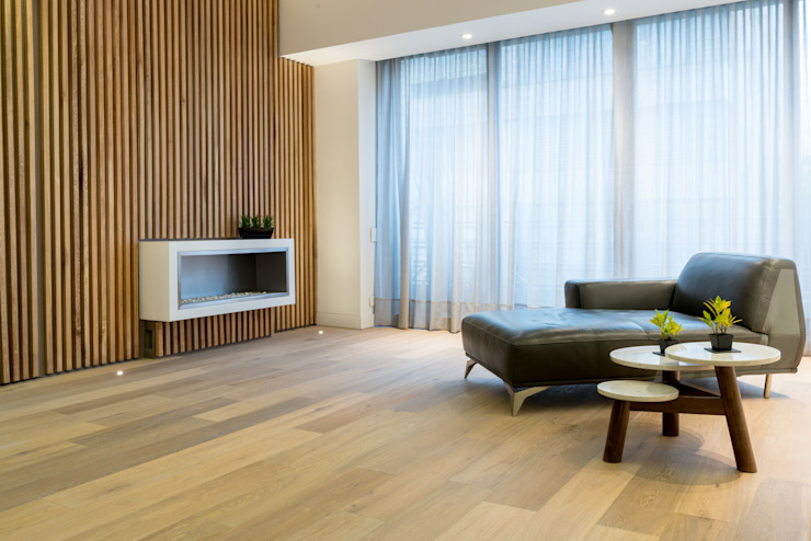 Living room by Pisos Millenium , Scandinavian Wood Wood effect