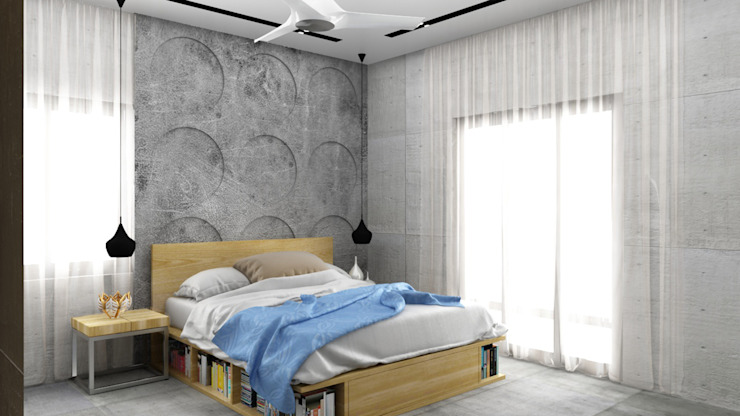 Bedroom design Modern style bedroom by Rhythm And Emphasis Design Studio Modern