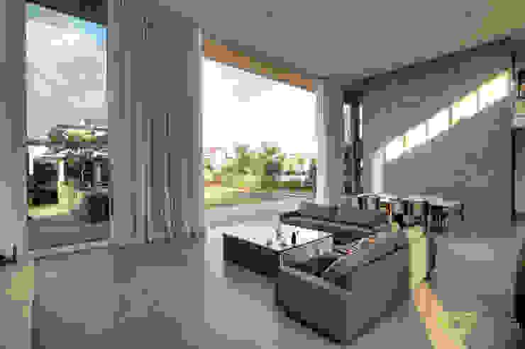 Olaa Arquitetos Scandinavian style living room