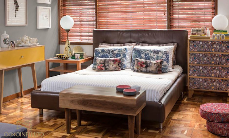 OCHOINFINITO Mobiliario - Interiorismo Eclectic style bedroom Solid Wood