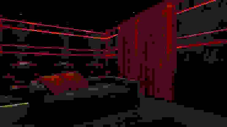 home theatre design in villa Modern media room by Rhythm And Emphasis Design Studio Modern