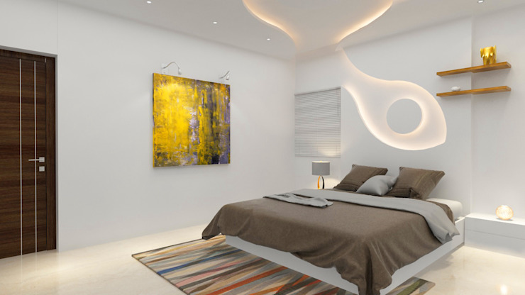 Bedroom interiors Modern style bedroom by Rhythm And Emphasis Design Studio Modern