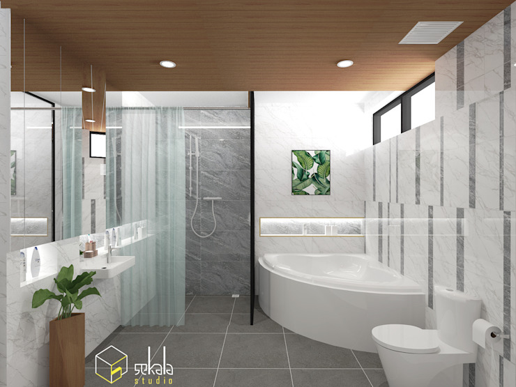 SEKALA Studio Tropical style bathroom Granite White