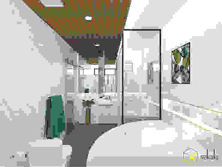 Mr. Adrian's Bathroom Kamar Mandi Modern Oleh SEKALA Studio Modern Granit