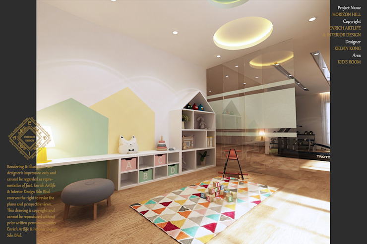 Modern nursery/kids room by Enrich Artlife & Interior Design Sdn Bhd Modern