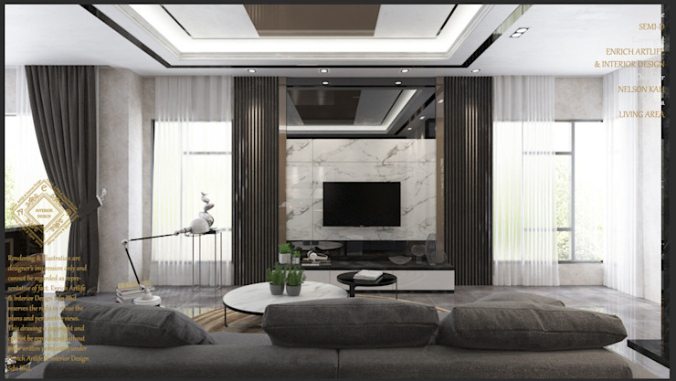 Living Area by Enrich Artlife & Interior Design Sdn Bhd Modern