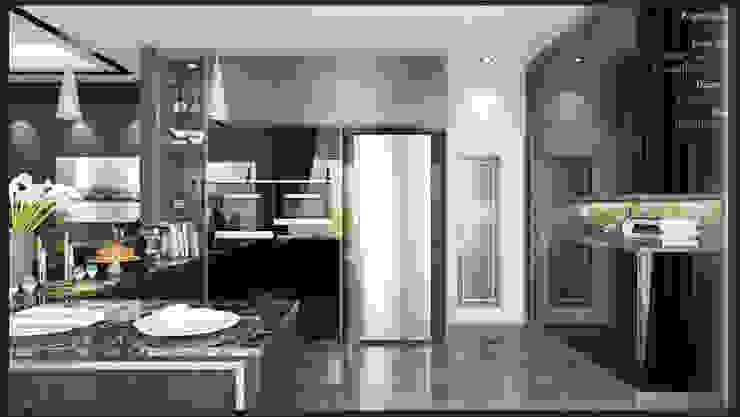 Dry Kitchen Enrich Artlife & Interior Design Sdn Bhd Modern style kitchen Black