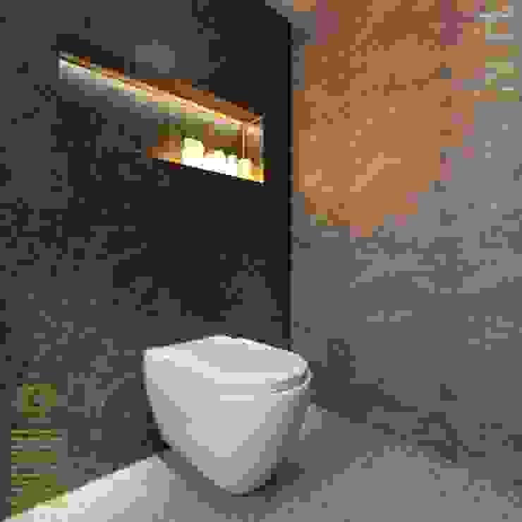 Semi-Detached Houses Design - Horizon Hill Johor,Malaysia Modern style bathrooms by Enrich Artlife & Interior Design Sdn Bhd Modern