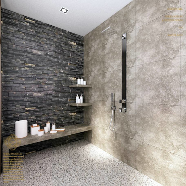 Semi-Detached Houses Design - Horizon Hill Johor,Malaysia Enrich Artlife & Interior Design Sdn Bhd Modern style bathrooms