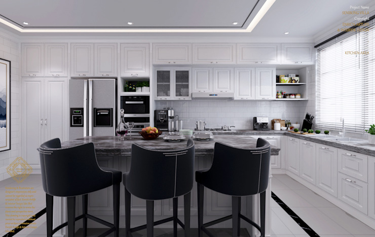 Semi-Detached Houses Design—Senibong Villa Johor,Malaysia Modern style kitchen by Enrich Artlife & Interior Design Sdn Bhd Modern