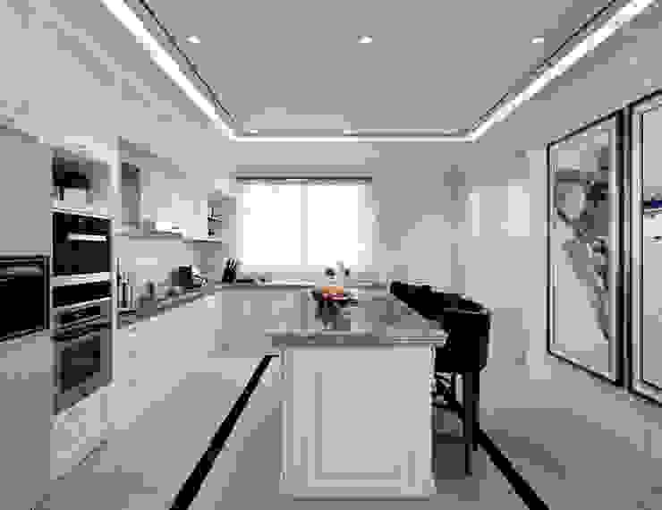 Semi-Detached Houses Design - Senibong Villa Johor,Malaysia Modern style kitchen by Enrich Artlife & Interior Design Sdn Bhd Modern