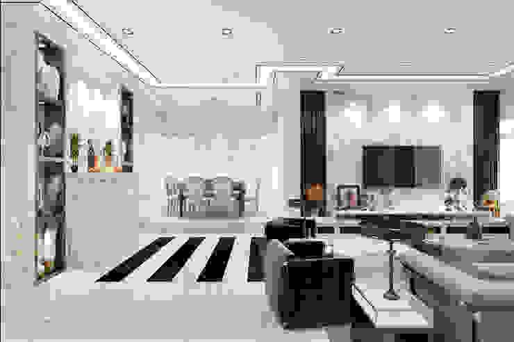 Semi-Detached Houses Design—Senibong Villa Johor,Malaysia Enrich Artlife & Interior Design Sdn Bhd Living room