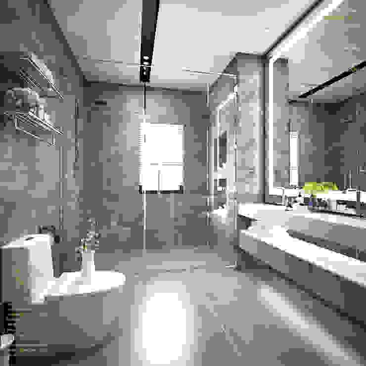 Semi-Detached Houses Design—Senibong Villa Johor,Malaysia Enrich Artlife & Interior Design Sdn Bhd Modern style bathrooms