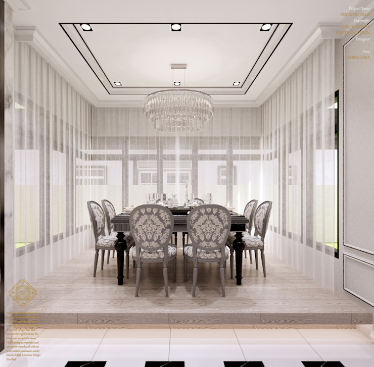 Semi-Detached Houses Design—Senibong Villa Johor,Malaysia Modern dining room by Enrich Artlife & Interior Design Sdn Bhd Modern