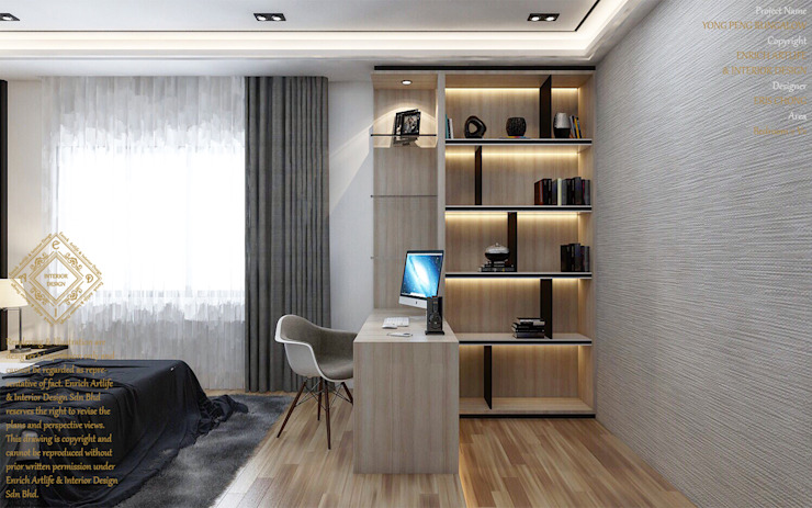 Modern and luxurious- Bedroom Modern style bedroom by Enrich Artlife & Interior Design Sdn Bhd Modern