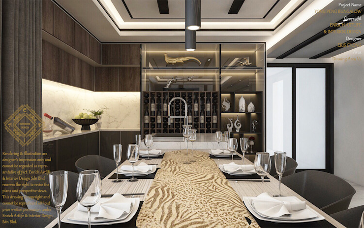 Luxurious dining room Modern dining room by Enrich Artlife & Interior Design Sdn Bhd Modern