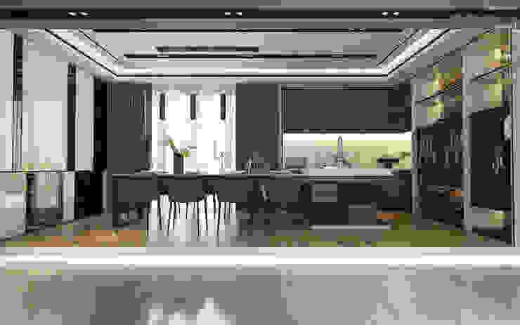 Sleek kitchen Modern dining room by Enrich Artlife & Interior Design Sdn Bhd Modern