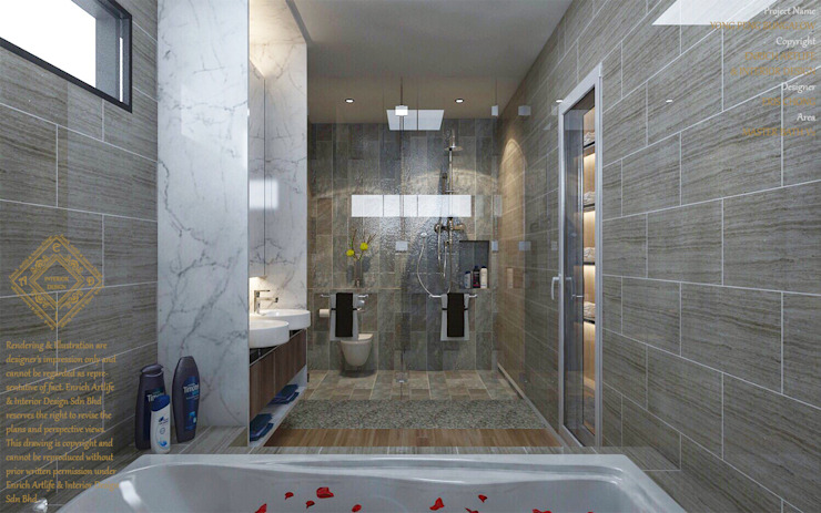 Bungalow Design -Yong Peng Johor Bahru,Malaysia Modern style bathrooms by Enrich Artlife & Interior Design Sdn Bhd Modern