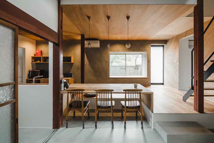 shimotoyama-house-renovation ALTS DESIGN OFFICE 和風デザインの ダイニング