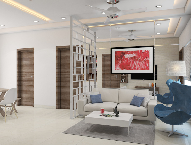 live sharp- stay active in your living space Modern living room by Rhythm And Emphasis Design Studio Modern