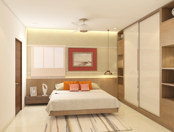 Bedroom Idea Modern style bedroom by Rhythm And Emphasis Design Studio Modern