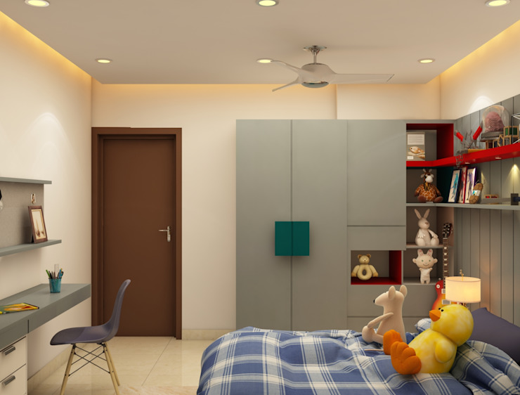 Kids Room Modern style bedroom by Rhythm And Emphasis Design Studio Modern