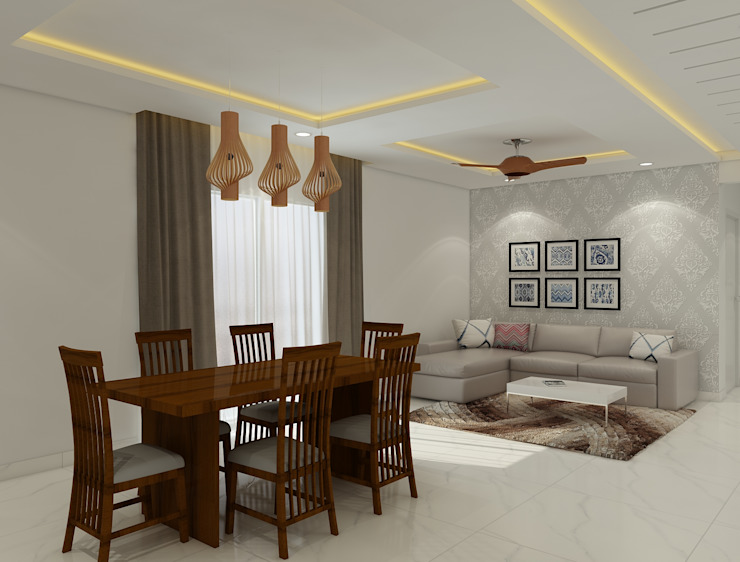 Dining room and living room Rhythm And Emphasis Design Studio Modern dining room