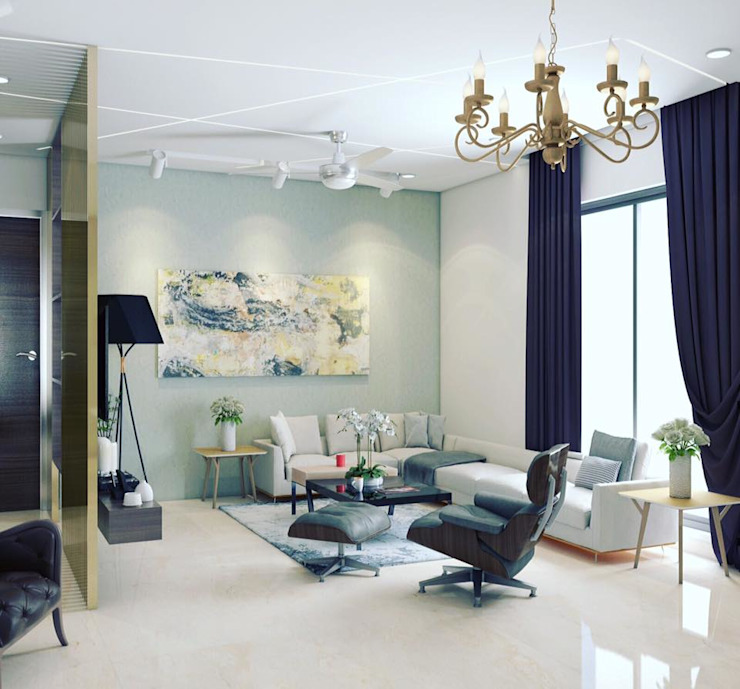 Living Room: modern  by Rhythm  And Emphasis Design Studio ,Modern