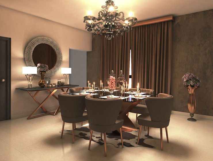 luxury contemporary dining room Rhythm And Emphasis Design Studio Modern dining room