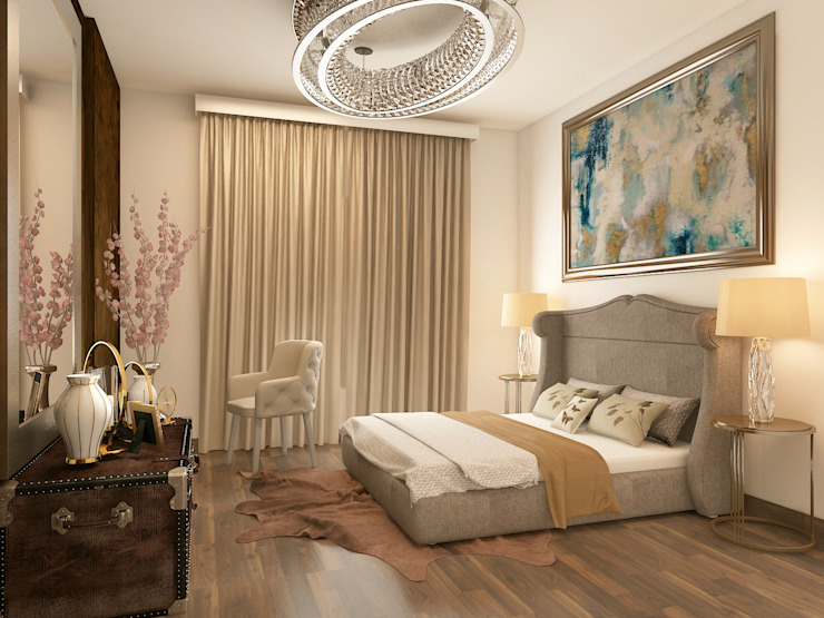Luxurious contemporary bedroom Rhythm And Emphasis Design Studio Modern living room