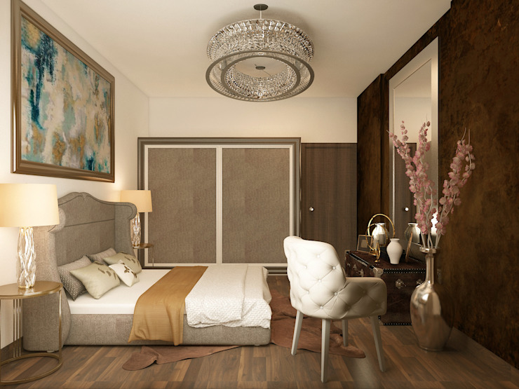 Luxurious contemporary bedroom Rhythm And Emphasis Design Studio Modern style bedroom