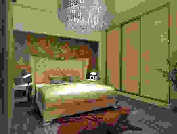 champange bedroom combination Rhythm And Emphasis Design Studio Modern style bedroom