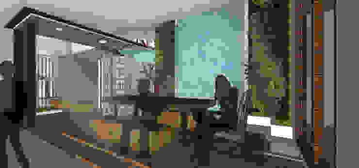 HRW House Tropical style dining room by SAE Studio (PT. Shiva Ardhyanesha Estetika) Tropical