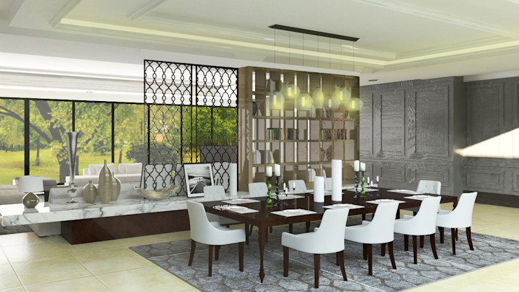 Mekarwangi Residence Classic style dining room by SAE Studio (PT. Shiva Ardhyanesha Estetika) Classic