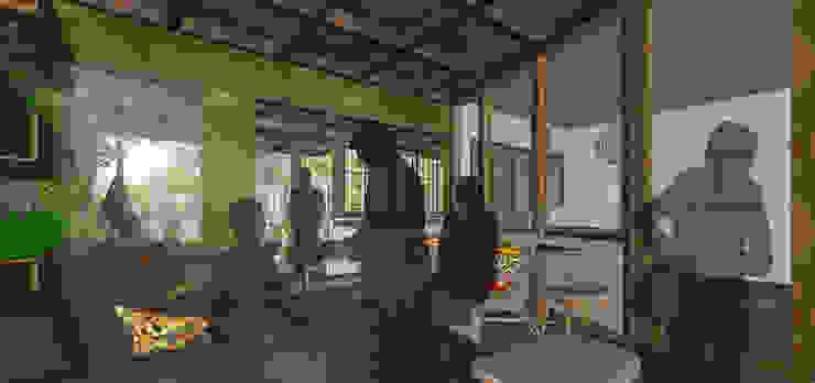 SAE Office & Kecik Kitchen I Concept by SAE Studio (PT. Shiva Ardhyanesha Estetika) Tropical