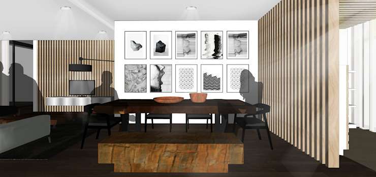 Vasa Lake House Tropical style dining room by SAE Studio (PT. Shiva Ardhyanesha Estetika) Tropical