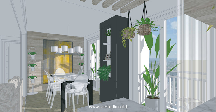 Trivium Apartment I Suite SAE Studio (PT. Shiva Ardhyanesha Estetika) Classic style dining room