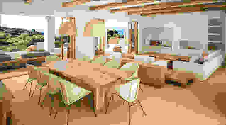 Vivienda Unifamilar - Ibiza - España: Comedores de estilo  por MADBA design & architecture,Mediterráneo