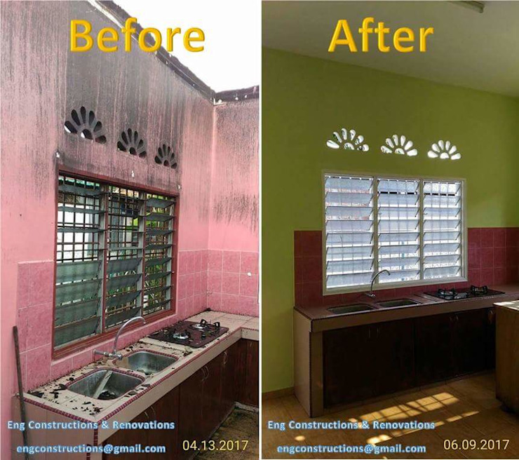 Before/After Pictures Sam Contractors Ipoh