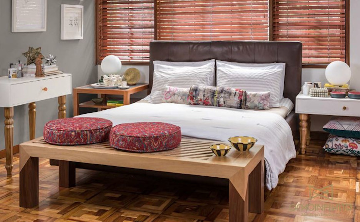 Eclectic style bedroom by OCHOINFINITO Mobiliario - Interiorismo Eclectic Solid Wood Multicolored