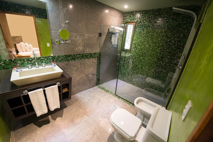 Proyecto y construcción Hotel Ivy Hoteles de estilo moderno de GS TALLER DE ARQUITECTURA Moderno Cerámico