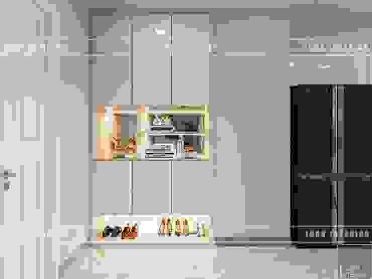 Thiết kế phong cách hiện đại thanh lịch với tông màu trắng bởi ICON INTERIOR Hiện đại