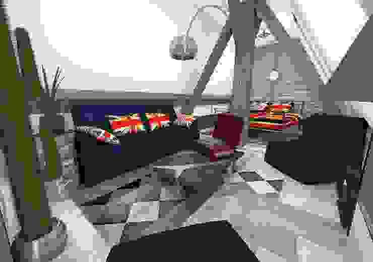 Chambre ado Chambre industrielle par Crhome Design Industriel