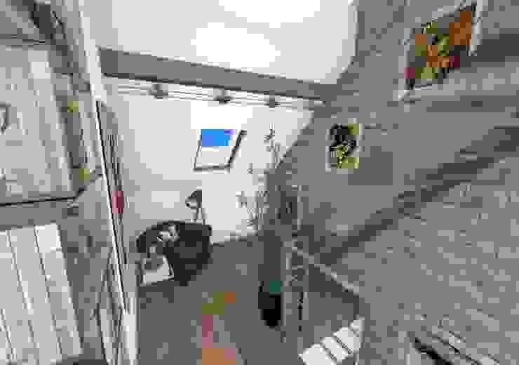 Dégagement Couloir, entrée, escaliers industriels par Crhome Design Industriel