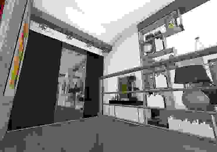 Entrée Couloir, entrée, escaliers industriels par Crhome Design Industriel