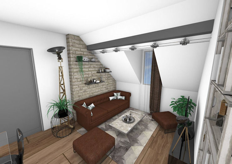 Salon Salon industriel par Crhome Design Industriel