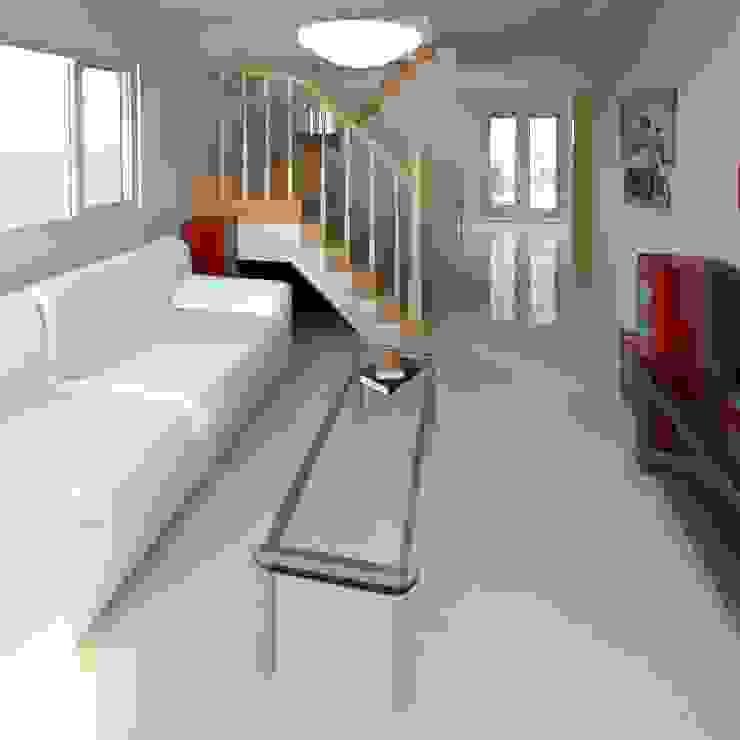 Sala render 3D Livings de estilo moderno de Cosmoservicios SAS Moderno Vidrio