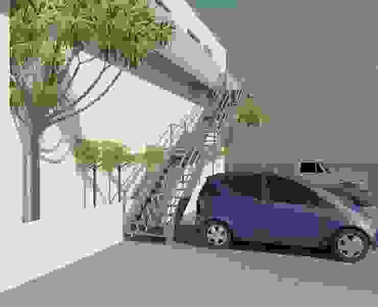 Escalera render 3D de Cosmoservicios SAS Moderno Hierro/Acero